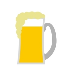 Glass of beer flat icon vector image vector image