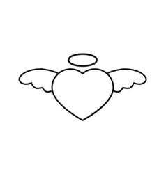 heart with nimbus icon vector image