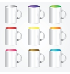 High detailed cups vector image vector image
