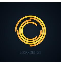 logo letter c vector image vector image
