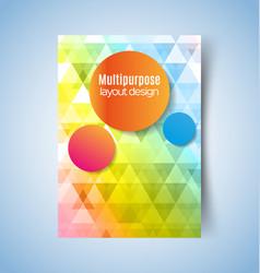 multipurpose layout design3 pdf vector image vector image
