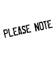 please note rubber stamp vector image vector image