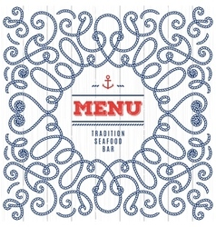 Seafood Menu modern idea Elegant frame with marine vector image