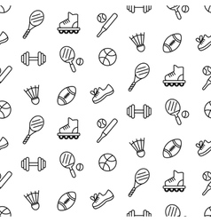 Seamless pattern with sport equipment vector image