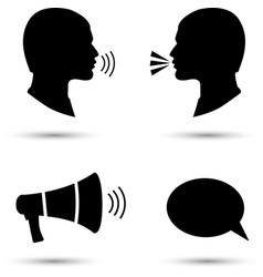 Talk or speak icons Loud noise symbols vector image