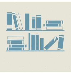 Bookshelf Retro vector image