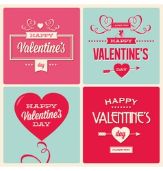 Set of valentines day card design vector