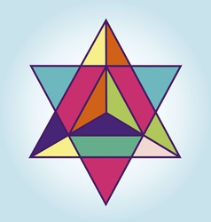 Star Tetrahedron vector image vector image