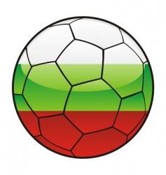 bulgaria flag on soccer ball vector image