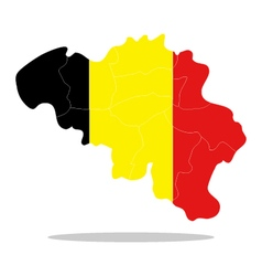 map belgium vector image vector image