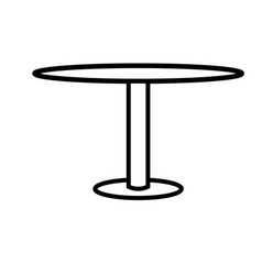 round table icon vector image vector image