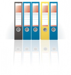 row of colored ring binders vector image vector image