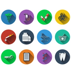 Set of medical icons in flat design vector image vector image