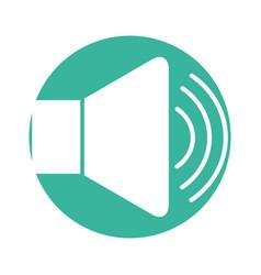 speaker audio isolated icon vector image