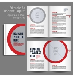 A4 booklet Layout Design Template with Cover vector