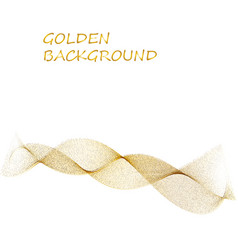 abstract beige line golden wave yellow band on vector image