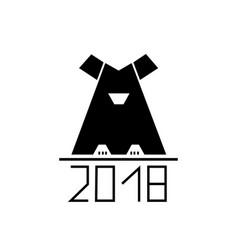 abstract dog as symbol 2018 year vector image