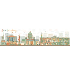 Abstract Saint Petersburg skyline vector image