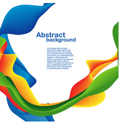 Abstract shapes and lines background design card vector