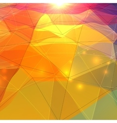 Abstract triangles polygonal surface vector
