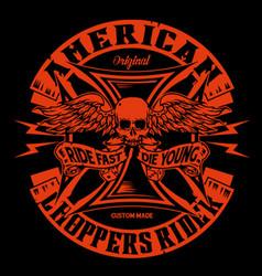american chopper vector image