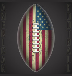 American football ball on a black background vector