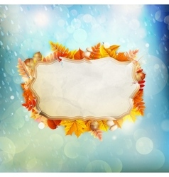 Autumn Concept Background EPS 10 vector image vector image