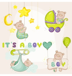 Baby BearSet - for Baby Shower Card vector image