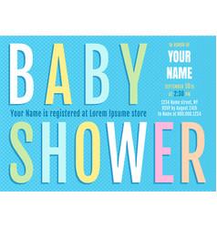bashower card vector image