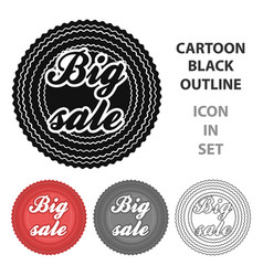 big sale icon in cartoon style isolated on white vector image