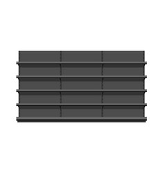 black empty store shelves vector image