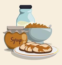Breakfast design vector image