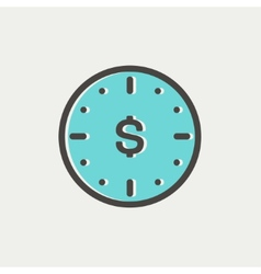 Business Flat thin line icon vector
