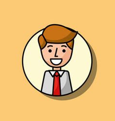 businessman portrait character smiling image vector image