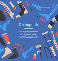 Cartoon orthopedic banner card vector