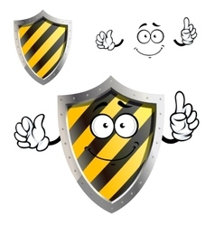 Cartoon protective or warning sign shield vector image