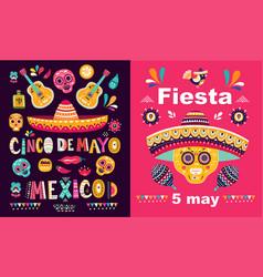 cinco de mayo fiesta vector image