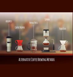 Coffee equipment composition vector