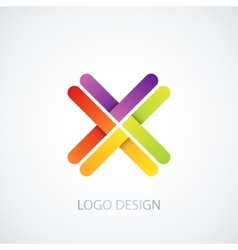 colorful logo letter x vector image