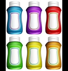 Colourful water jugs vector