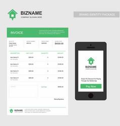 company invoice design with creative design vector image