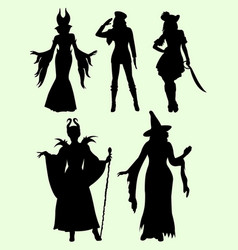 Cool costume silhouette vector