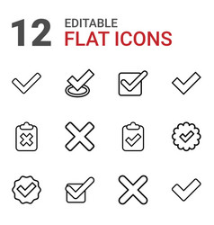 correct icons vector image