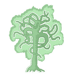 creative tree vector image