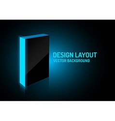 design box blue vector image