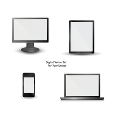 digital set for Your design vector image