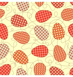 Easter yellow seamless pattern vector image