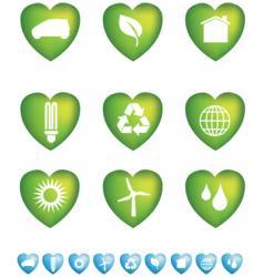 eco hearts vector image