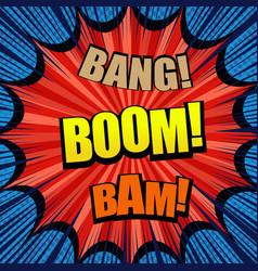 explosive comic bright template vector image