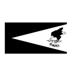 Flag american samoa black and white eps file vector